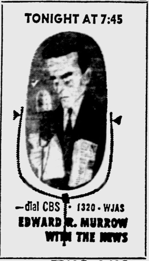 OTR Advertisements: Edward R. Murror with the News