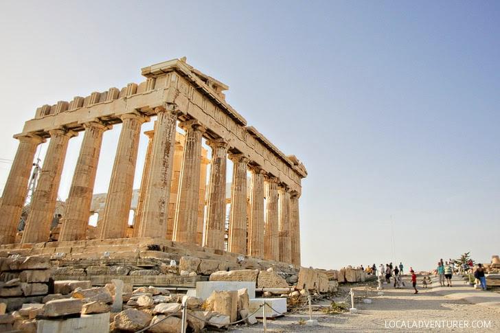 The Parthenon in Acropolis Greece.