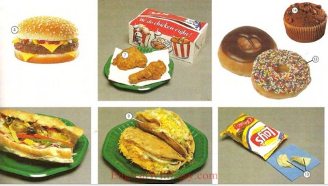 Snacks de fast food - Food - Picture Dictionary