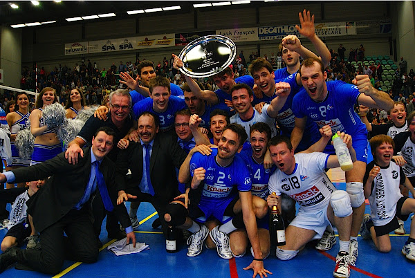 Ploegfoto van Landskampioen Knack Roeselare, seizoen 2012-2013