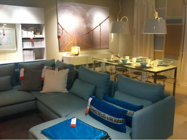 Ideias do Ikea para decorao de Salas em Branco ou Azul