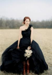 I Heart Wedding Dress: Black Wedding Dress