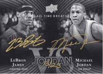 2012-13 Upper Deck All Time Greats Michael Jordan - LeBron James Dual Auto