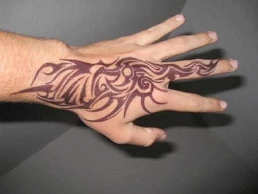 tribal tattoos designs on hands