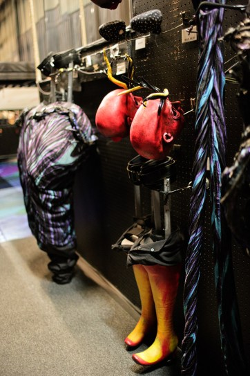 Backstage with Mystere Cirque Du Soleil Vegas.