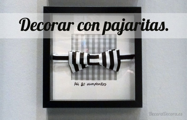 Decorar con pajaritas