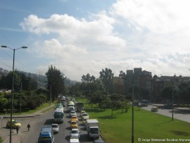 Avenida Boyacá separó el Humedal Santa María del Lago