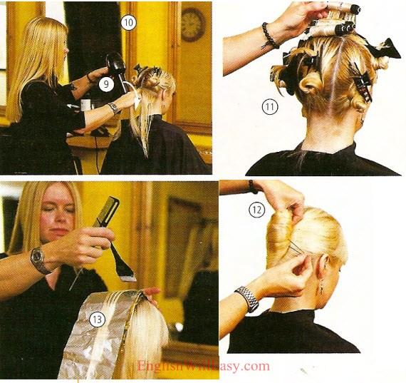 Hairdresser Beauty Salon Describing Hair Online
