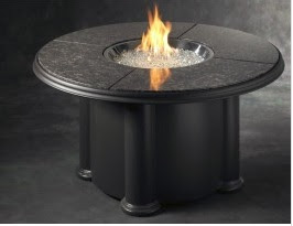 modern fire pit table