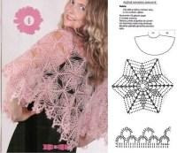Angels Cradle: Crochet pink lace shawl