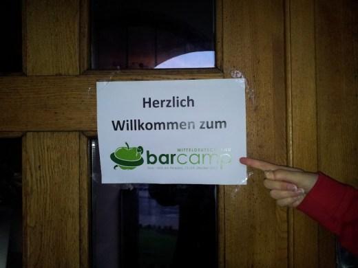 Bild vom Barcamp Mitteldeutschland Schild an der Türe