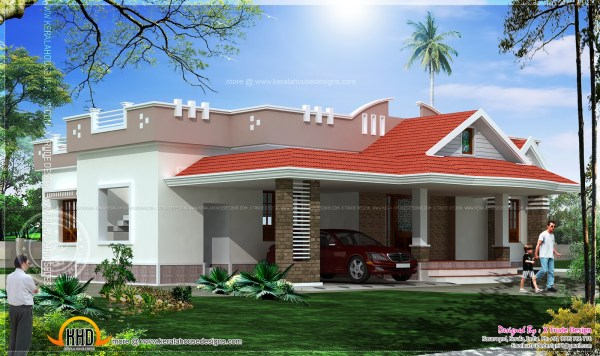 Two Bedroom House Floor Plan Elevation