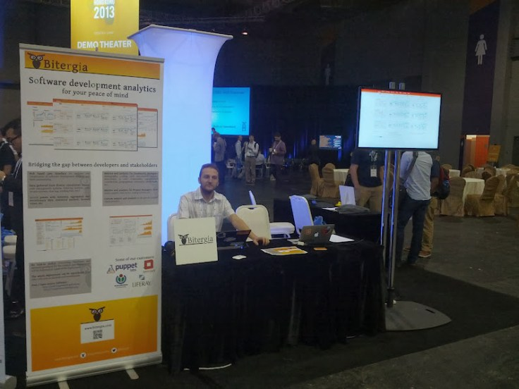 Bitergia's booth in OpenStack Summit