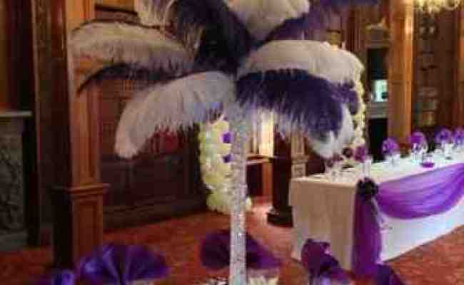 Enchanted Weddings Events Bristol Ostrich Feather Table