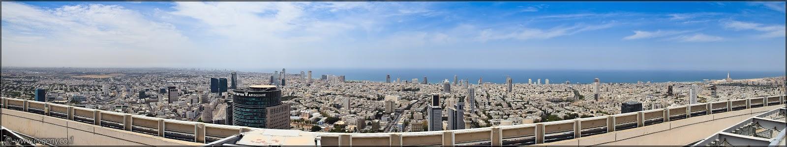 Фото: Панорама: Тель Авив с крыши Азриэли