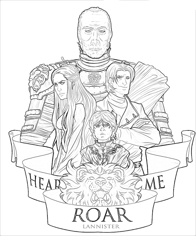 Ausmalbilder Malvorlagen: Game of thrones coloring pages