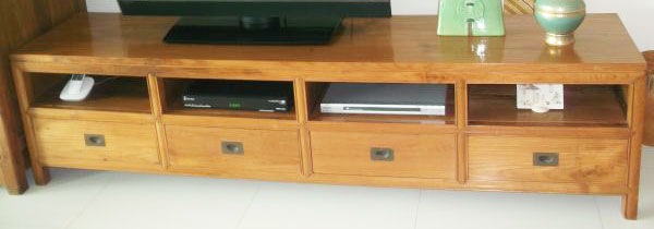 Teak Dining Table, TV Unit, And Long Cabinet (from $180 To