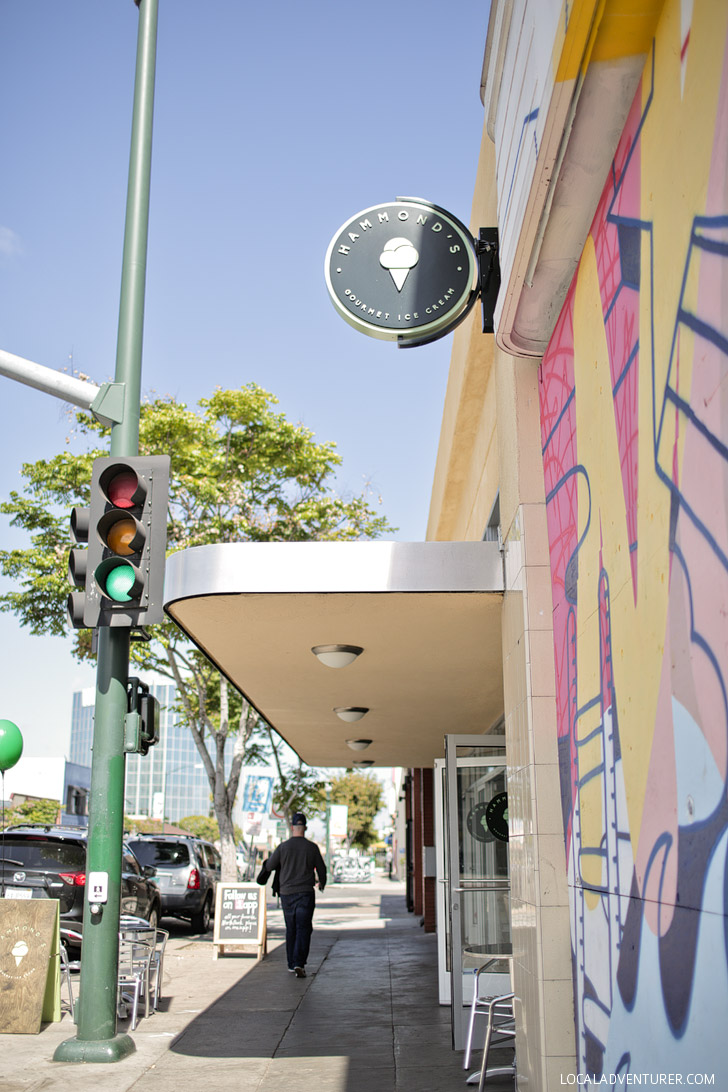 Hammonds Gourmet Ice Cream North Park San Diego.