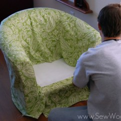 Chair Covers That Fit Ikea Chairs Wheelchair Parking Recovering The Tullsta Sew Woodsy