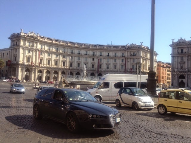White buildings in Rome