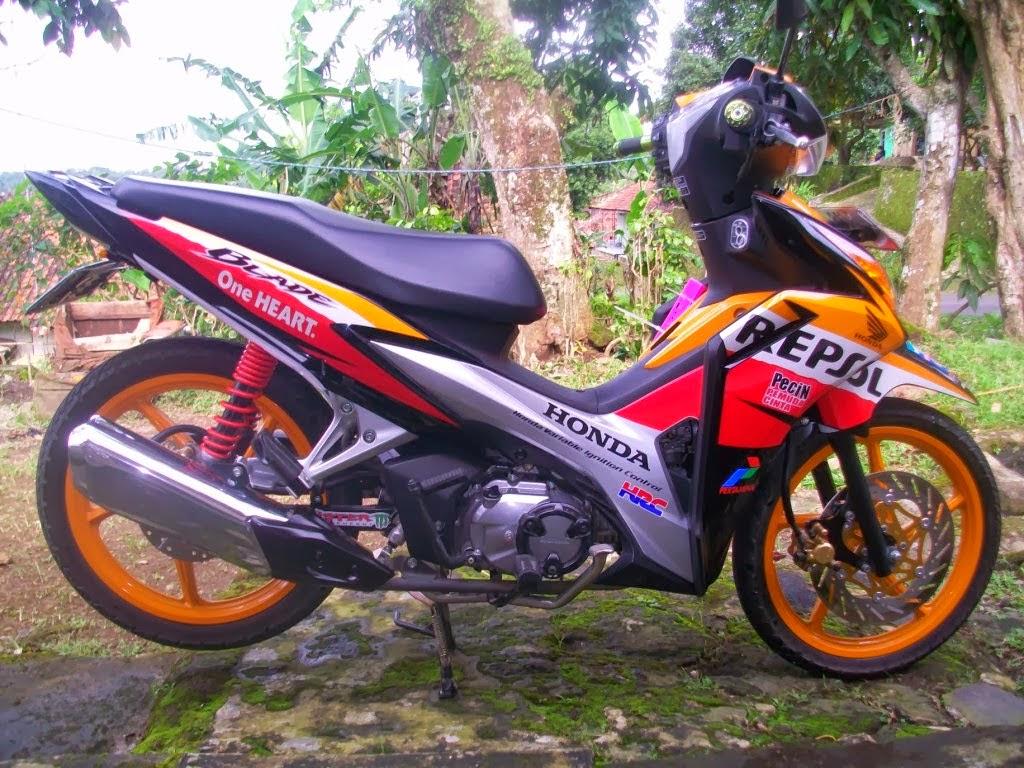 Modifikasi Motor Blade Repsol Terbaru  Thecitycyclist