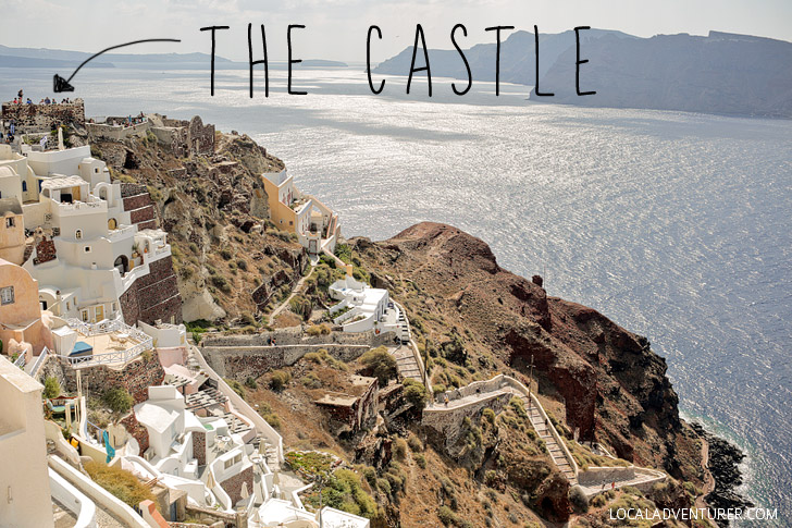 Things to do in Santorini Greece - Visit the Oia Castle.