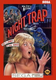 Capa de Night Trap que teve problemas com censura