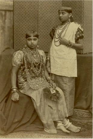 Kandy Girls Wearing Jewellery  Ceylon Sri Lanka 1880s