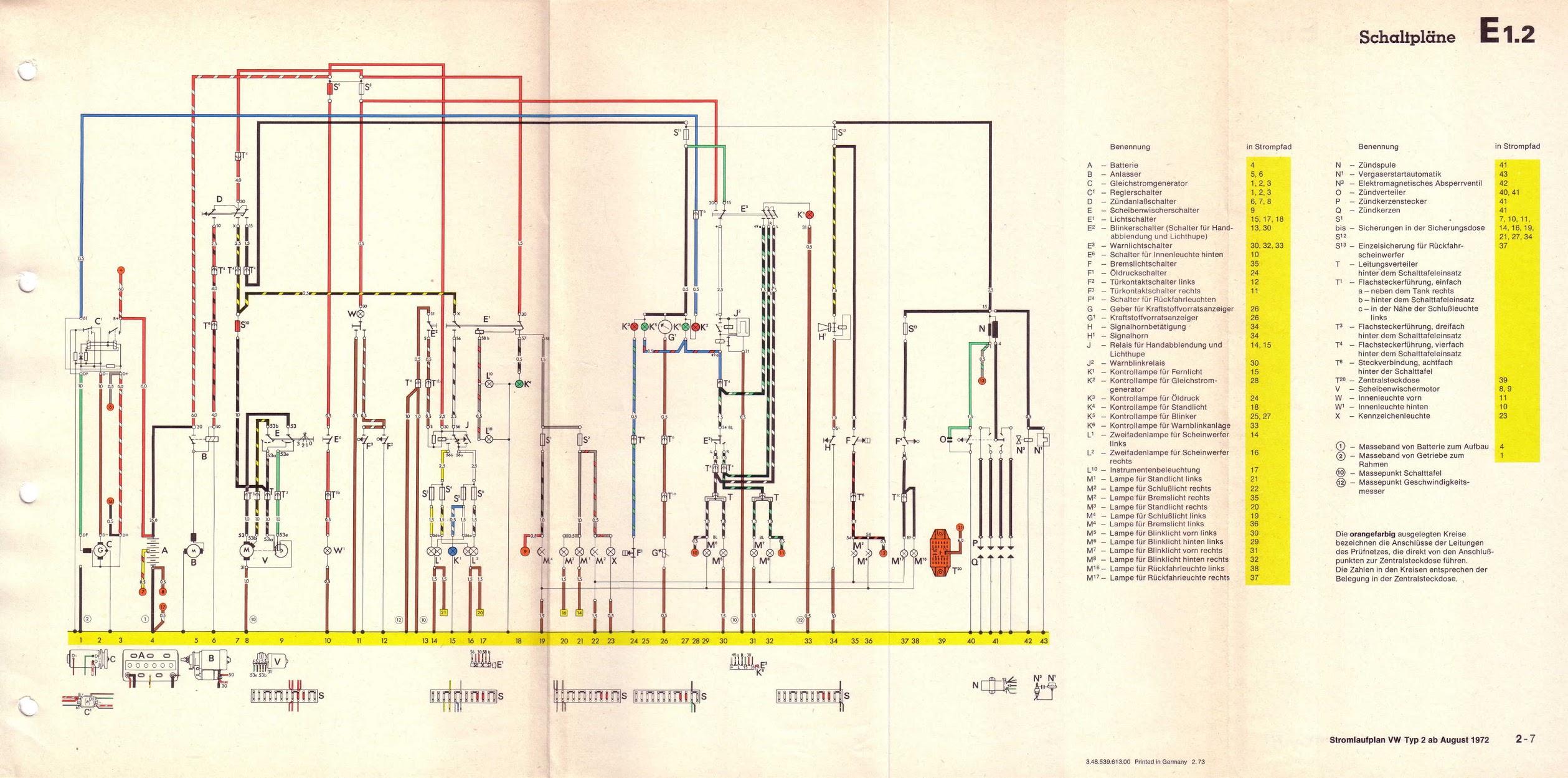 vw 1600 wiring diagram 3 phase immersion heater schemi elettrici