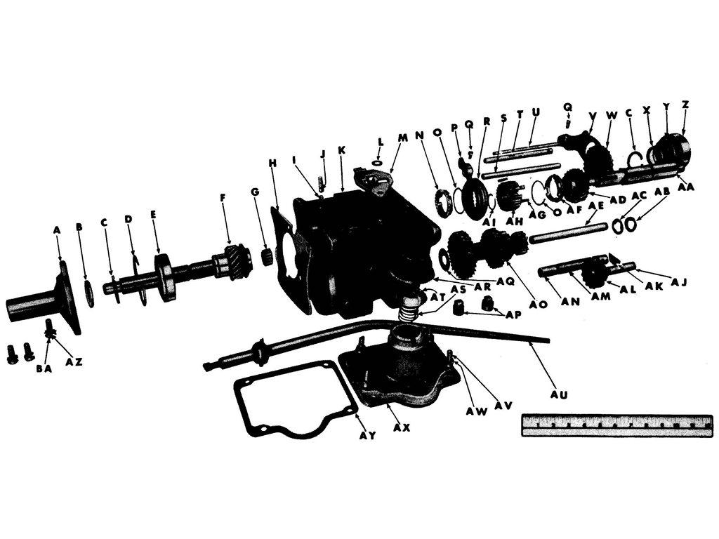 Willys MB / Ford GPW Transmission Assembly
