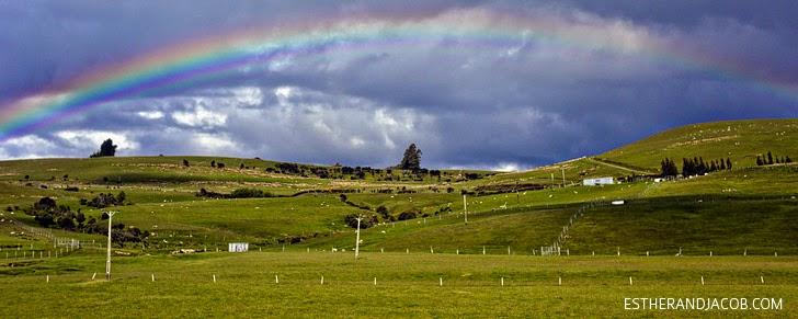 Double Rainbow OMG! South Island New Zealand.