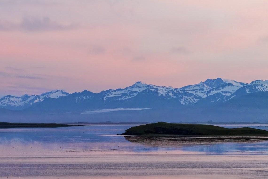 Sunset at Hafnarnes