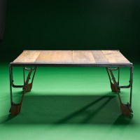 Steampunk Industrial Coffee Table | eBay
