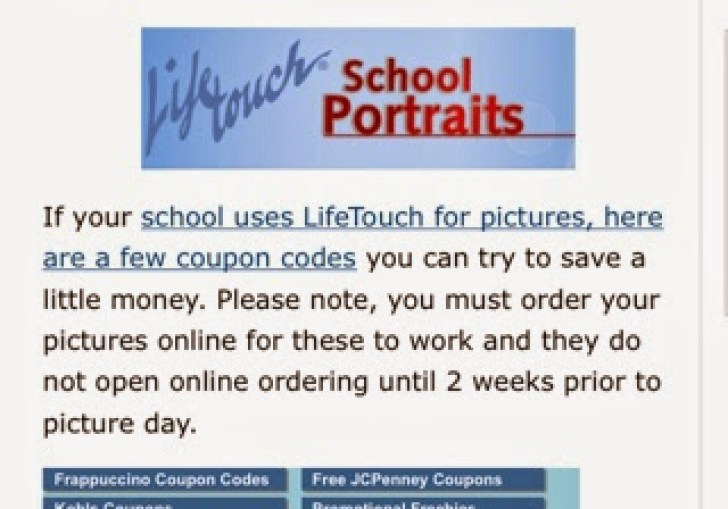 Coupon Code For Lifetouch