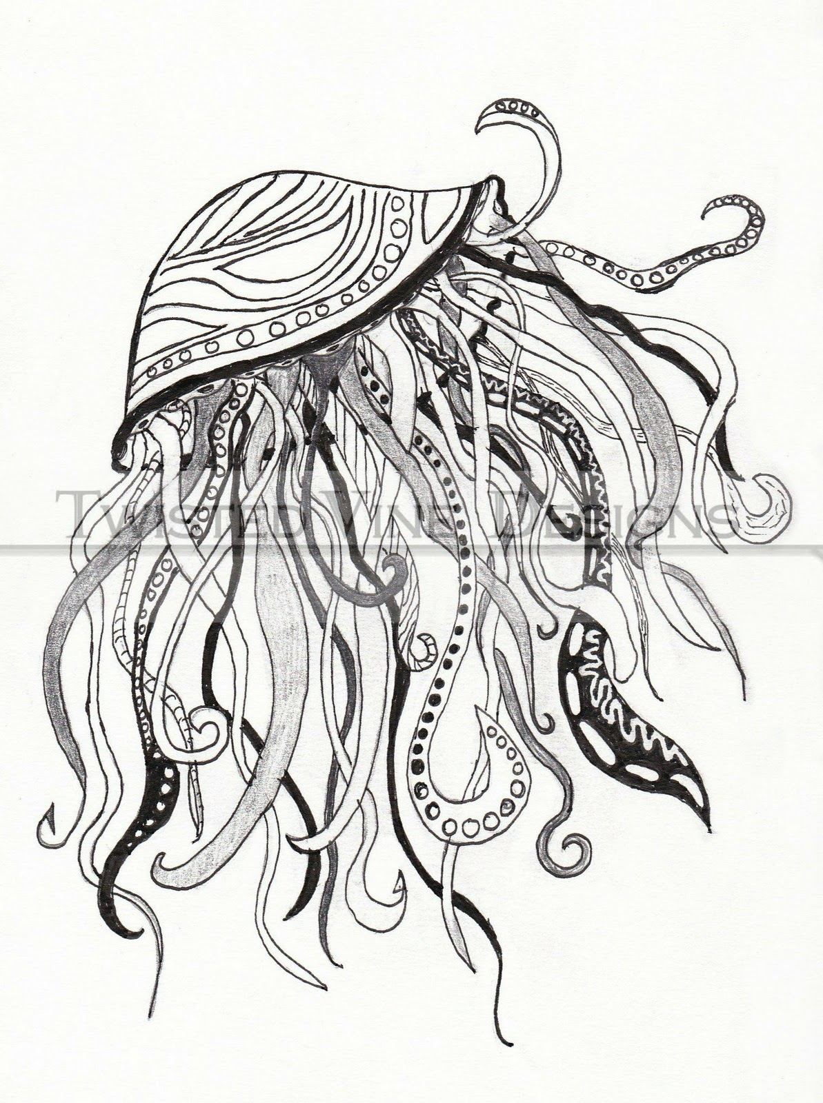 Twisted Vine Designs: Daily Dose of My Art: Jellyfish