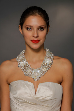 Gorgeous Beaded Necklace with Wedding Dress