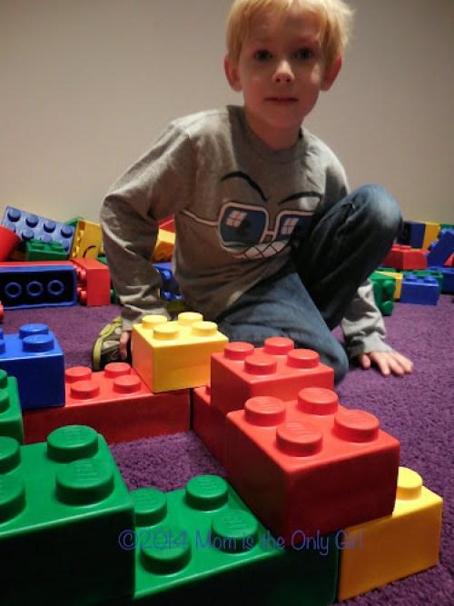 Giant LEGO play http://www.momistheonlygirl.com