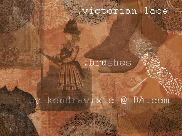 Vintage Graphic Design – Beautiful Lace Brushes | Starsunflower