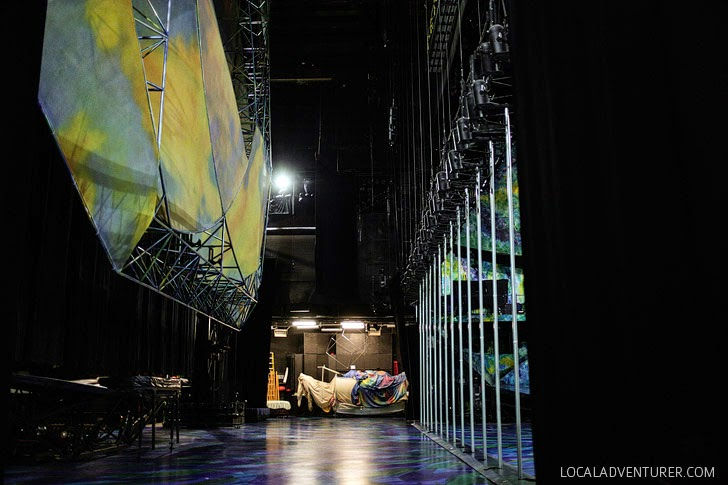 Backstage with Mystere Cirque Du Soleil Shows.