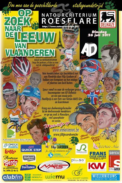 Op zoek naar de leeuw van Vlaanderen etalagewedstrijd door Filip Cardoen
