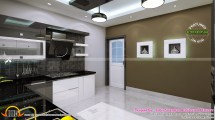 Interior Bedroom Kitchen Dining - Kerala Home Design