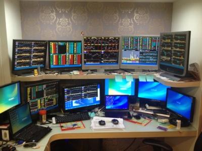 創兆投資工作室: 20130124:參觀朋友的操盤室