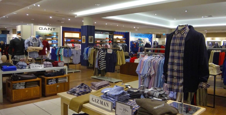Вот так выглядят отделы одежды в department stores, компании просто арендуют торговые площади и у David Jones или Myer и выставляют свой товар.