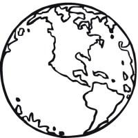 Dibujos de la bola del mundo para colorear