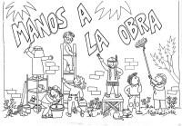 Dibujos Catlicos : Ayudar al prjimo para colorear