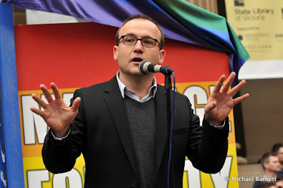 Adam Bandt - Federal MP for Melbourne (The Greens) - marriage equality legend!
