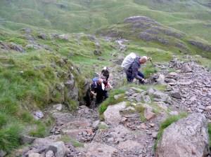 A stony ascent up North Rake