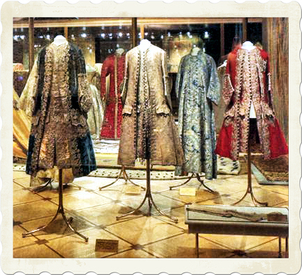 The Kremlin Armoury Museum and costumes from medieval times