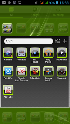 GO Launcher EX-Glossy Green Theme-04