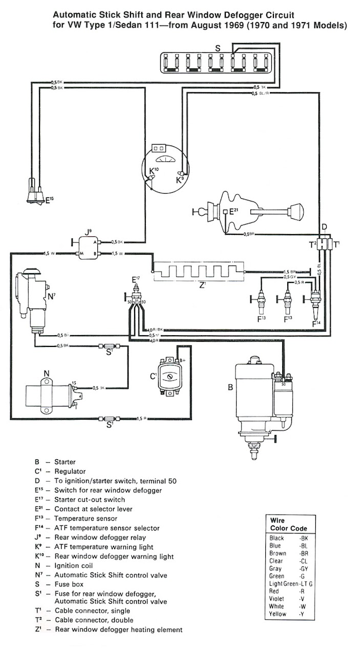 medium resolution of 1974 type 1 vw beetle fuse box diagram